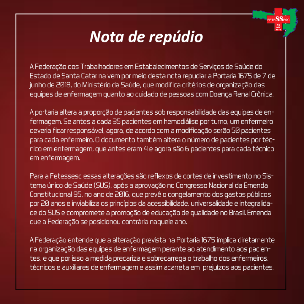 nota de repudio